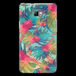 "Чехол для Samsung Galaxy S2 ""Джунгли"" - цветы, лес, краски, акварель, джунгли"