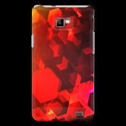 """Чехол для Samsung Galaxy S2 """"Шестиугольники"""" - узор, оригинальный, цветной, геометрический, многоугольники"""