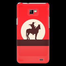 """Чехол для Samsung Galaxy S2 """"Ковбой"""" - кино, ковбой, дикий запад, вестерн"""