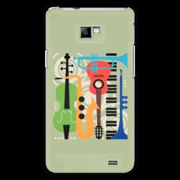 """Чехол для Samsung Galaxy S2 """"Музыкальные инструменты"""" - музыка, гитара, скрипка, инструменты, саксафон"""