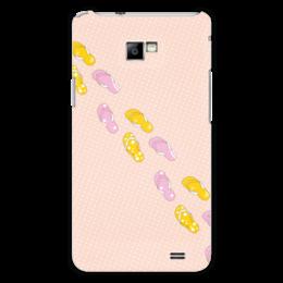 """Чехол для Samsung Galaxy S2 """"Сланцы"""" - лето, обувь, отпуск, горох, сланцы"""