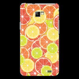 """Чехол для Samsung Galaxy S2 """"Цитрусы"""" - апельсин, лайм, лимон, грейпфрут, дольки"""