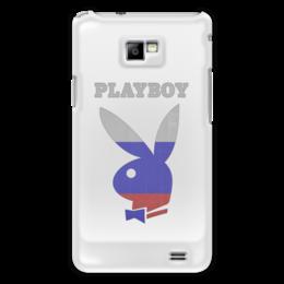 "Чехол для Samsung Galaxy S2 ""Playboy Россия"" - playboy, россия, плейбой, зайчик, плэйбой"