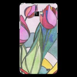 "Чехол для Samsung Galaxy S2 ""Тюльпаны"" - цветы, цветок, графика, акварель, тюльпаны, tulips"