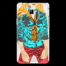"""Чехол для Samsung Galaxy S2 """"Шейный платок"""" - девушка, оранжевый, красный, галстук, бирюзовый"""