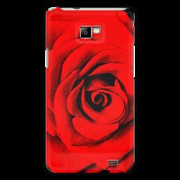 """Чехол для Samsung Galaxy S2 """"Красная роза """" - цветы, роза, красная роза"""