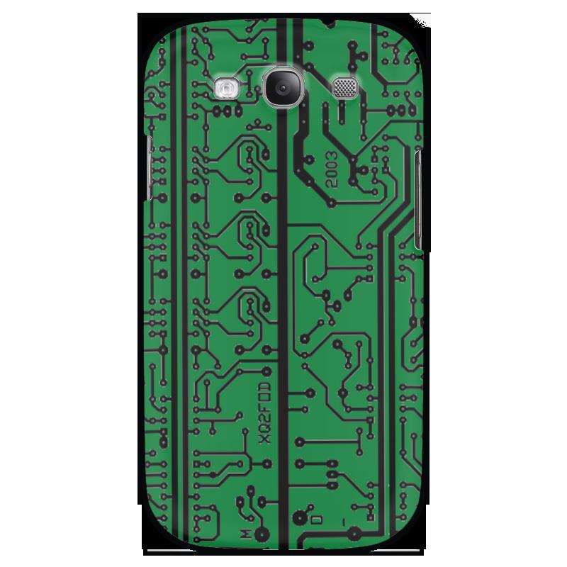 Чехол для Samsung Galaxy S3 Printio Электроника электроника в автомобиле вып 123