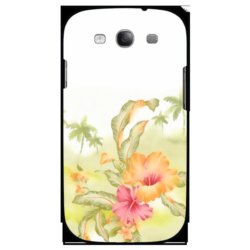 Чехол для Samsung Galaxy S3 Printio Тропические цветы, пальмы.