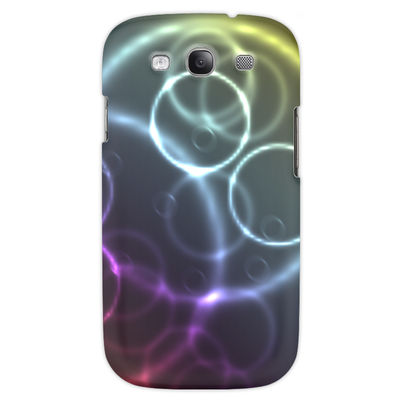 Чехол для Samsung Galaxy S3 Printio Круги sahar cases чехол узор с маленькими сердечками samsung galaxy s3