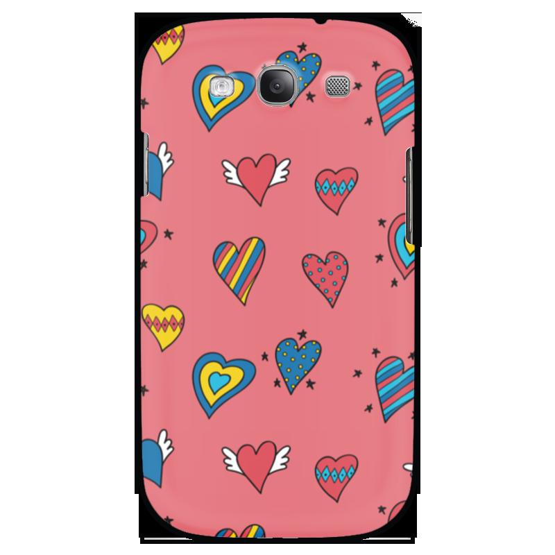 Чехол для Samsung Galaxy S3 Printio Heart doodles