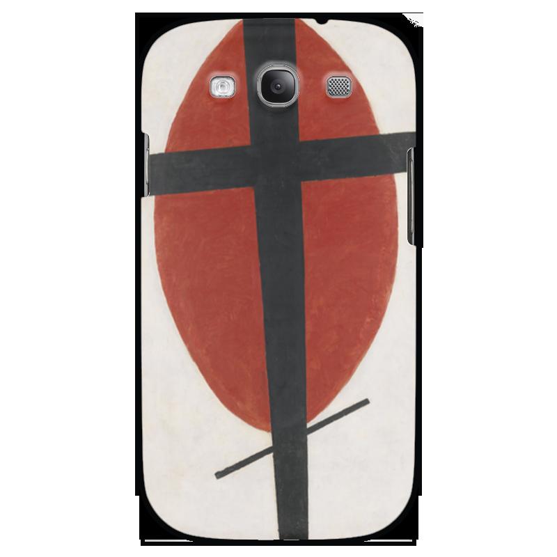 Чехол для Samsung Galaxy S3 Printio Супрематизм (черный крест на красном овале) ожерелье овале