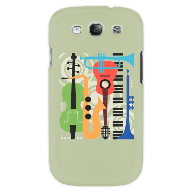 Чехол для Samsung Galaxy S3 Printio Музыкальные инструменты