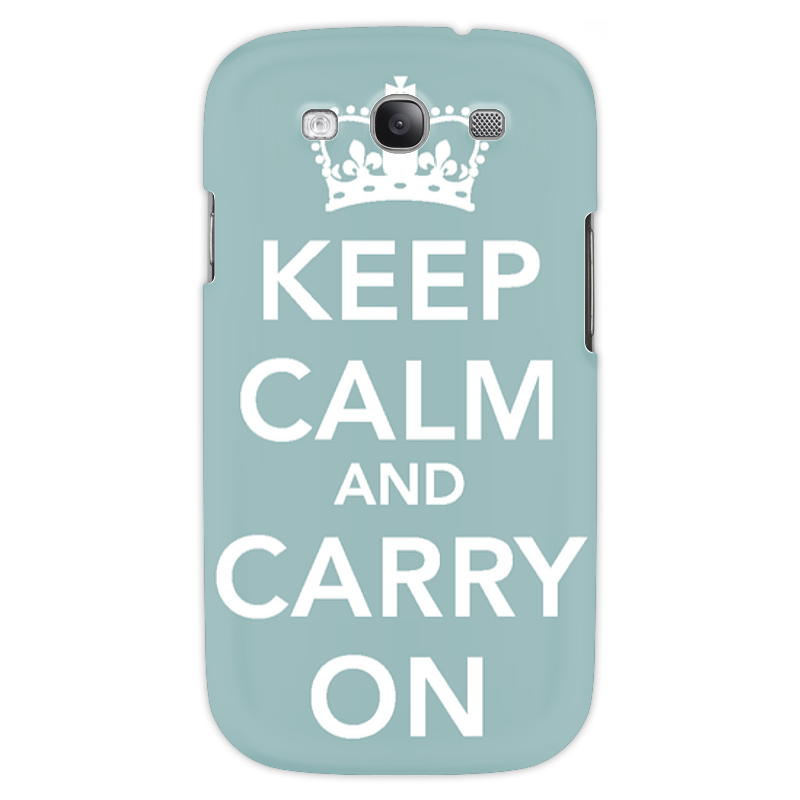 Чехол для Samsung Galaxy S3 Printio Keep calm and carry on samsung predstavit metallicheskii smartfon galaxy on nxt 20 oktiabria