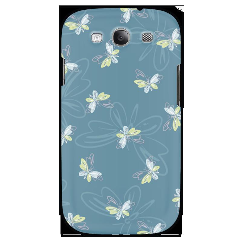 Чехол для Samsung Galaxy S3 Printio Бабочки чехол для карточек пионы на синем фоне дк2017 113