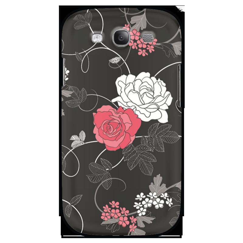 Чехол для Samsung Galaxy S3 Printio Красная и белая розы