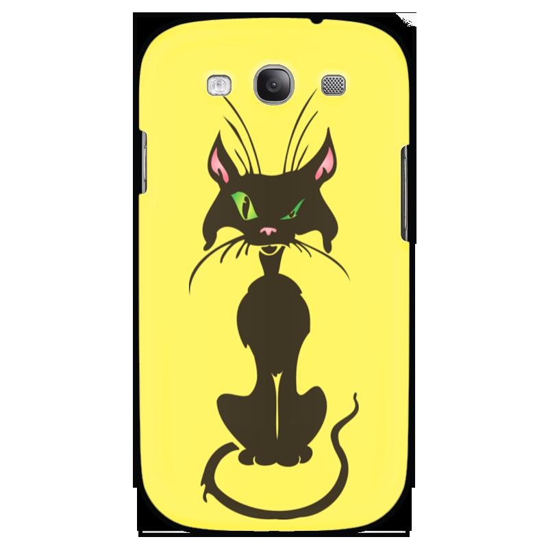 Чехол для Samsung Galaxy S3 Printio Черный кот чехол из искусственной кожи cellularline для samsung galaxy s3 черный