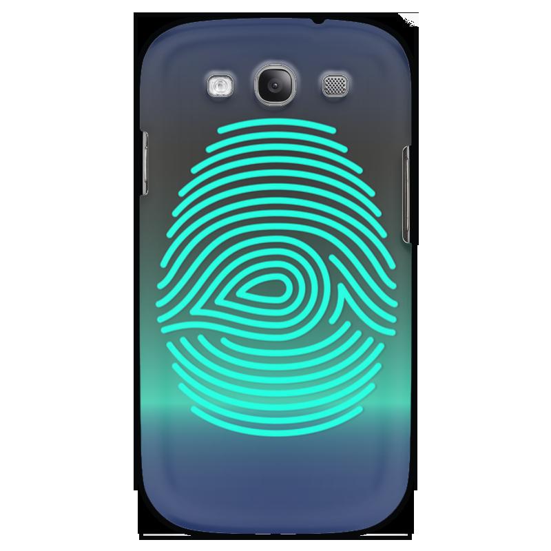 Чехол для Samsung Galaxy S3 Printio Отпечаток пальца чехол для карточек цветные совы на синем фоне дк2017 112