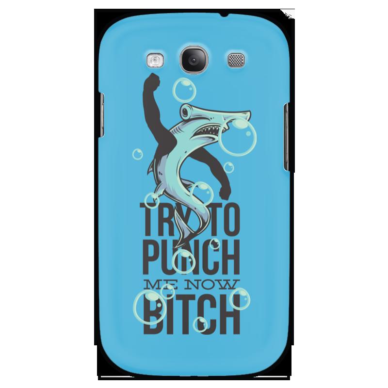 Чехол для Samsung Galaxy S3 Printio Акула серова м клад белой акулы