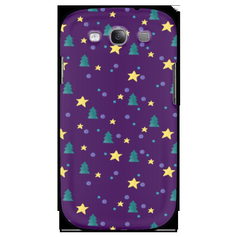 Чехол для Samsung Galaxy S3 Printio Елки и звезды