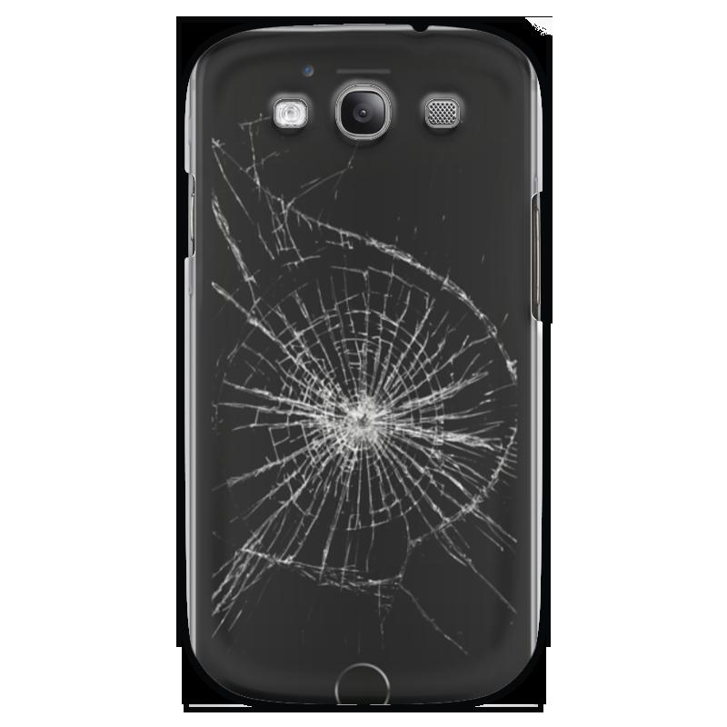 цены Чехол для Samsung Galaxy S3 Printio Разбитый экран