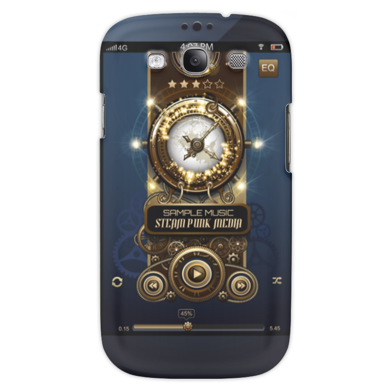 Чехол для Samsung Galaxy S3 Printio Стимпанк-музыка ii чехол для samsung s8530 wave ii palmexx кожаный в петербурге