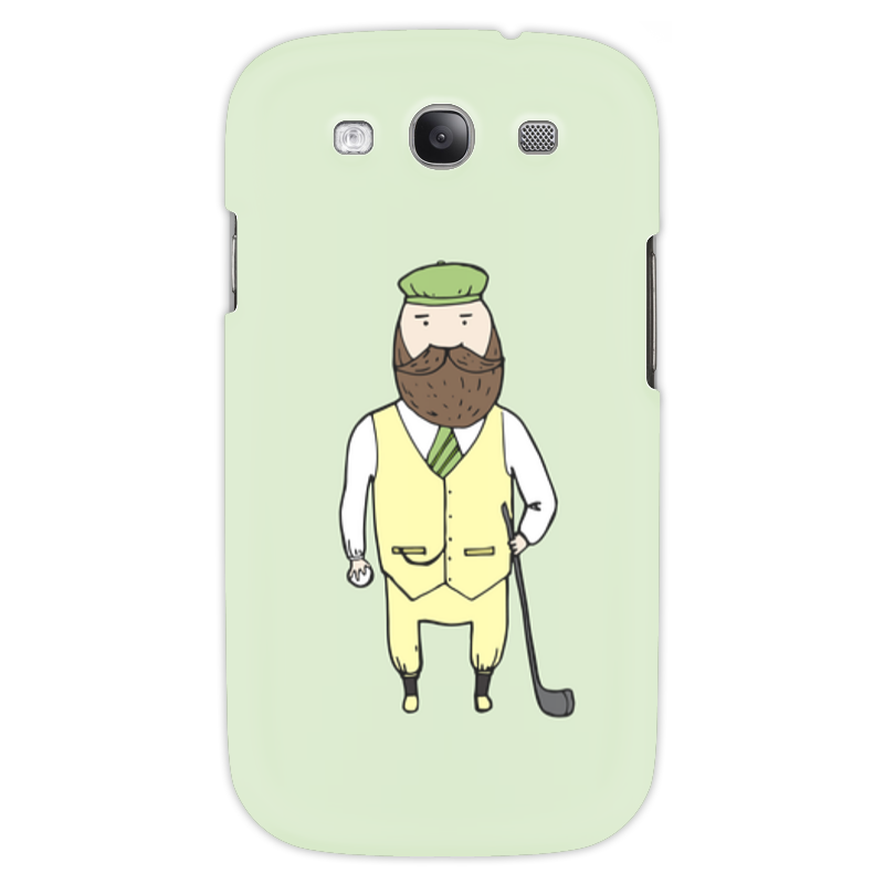 Чехол для Samsung Galaxy S3 Printio Джентльмен с клюшкой для гольфа чехол для samsung galaxy note printio джентльмен с клюшкой для гольфа