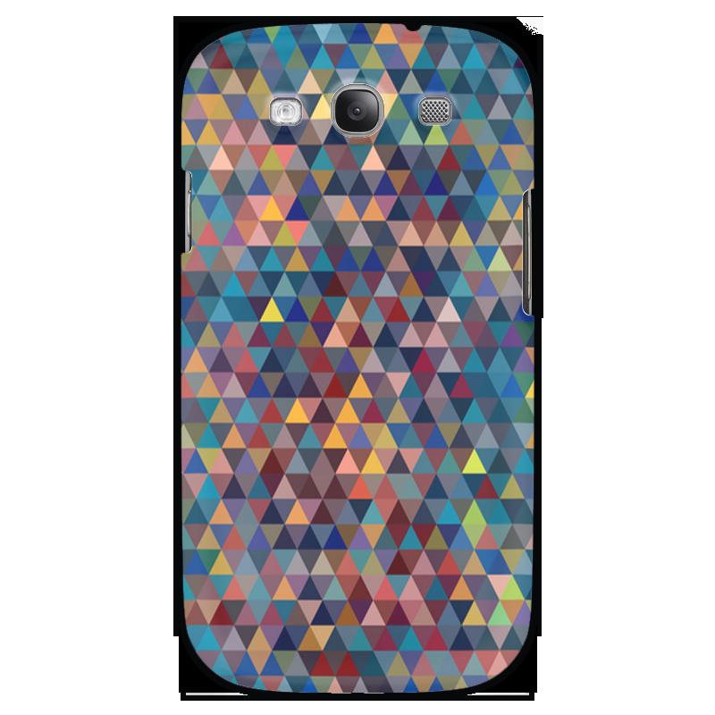 Чехол для Samsung Galaxy S3 Printio Разноцветные треугольники