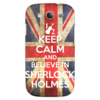 "Чехол для Samsung Galaxy S3 ""Keep calm and believe in sherlock holmes"" - англия, сериал, 2014, bbc, sherlock, moriarty, мориарти, шерлок, британия, uk"