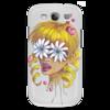 """Чехол для Samsung Galaxy S3 """"Без ума от цветов"""" - любовь, девушка, цветы, сердца, блондинка"""