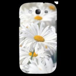 """Чехол для Samsung Galaxy S3 """"Ромашки"""" - цветы, цветок, белый, ромашка, желтый"""