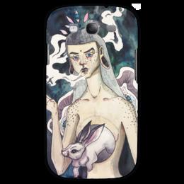 """Чехол для Samsung Galaxy S3 """"rabbitsoul"""" - прикольно, арт, рисунок, arishap, annasomna, somna, rabbit, девушка, кролик"""