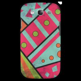 """Чехол для Samsung Galaxy S3 """"Яркая геометрия"""" - полосы, круги, геометрия, треугольники"""