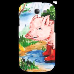 """Чехол для Samsung Galaxy S3 """"Маленькая свинка"""" - ручная работа, детский рисунок, от детей, детская работа"""