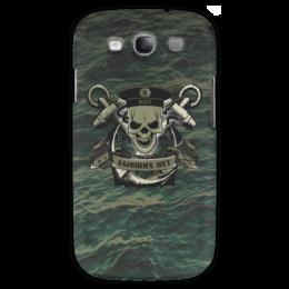 """Чехол для Samsung Galaxy S3 """"ФЛОТ!!!"""" - море, якорь, флаг, флот, бескозырка"""