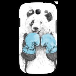 "Чехол для Samsung Galaxy S3 ""PandaBoxing"" - панда, бокс, animal, blue, gloves"