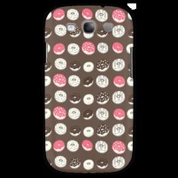 """Чехол для Samsung Galaxy S3 """"Пончики"""" - еда, пончики, шоколад"""