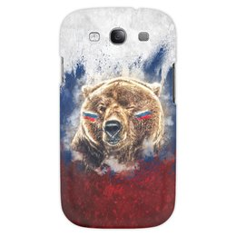 "Чехол для Samsung Galaxy S3 ""Русский Медведь"" - флаг, триколор, россия, футбол, медведь"