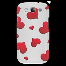 """Чехол для Samsung Galaxy S3 """"Сердечки"""" - сердце, любовь, сердечки, красное"""