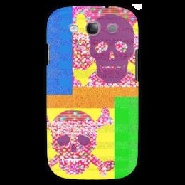 """Чехол для Samsung Galaxy S3 """"Золотой песок"""" - черепа, пираты, побережье, полоски, сокровища"""