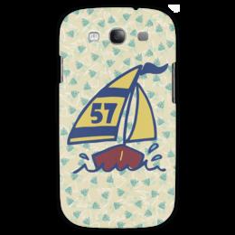 """Чехол для Samsung Galaxy S3 """"Кораблик"""" - пальма, кораблик, рыбки, яхта, парус"""