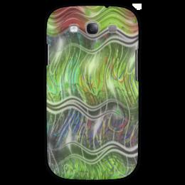 """Чехол для Samsung Galaxy S3 """"Волокна"""" - волны, пузыри, отблики, волокна, колебания"""