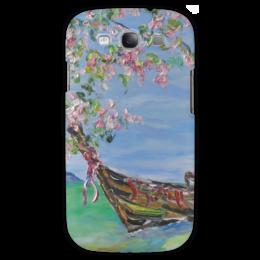 "Чехол для Samsung Galaxy S3 ""Тайланд"" - небо, цветочки, океан, тайланд, лодочка"