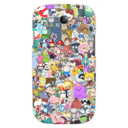 "Чехол для Samsung Galaxy S3 ""STICKERS"" - арт, дизайн, мульт, фэн-арт, аниме"