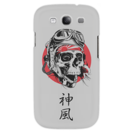 """Чехол для Samsung Galaxy S3 """"Камикадзе"""" - япония, иероглифы, камикадзе, божественный ветер"""