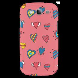 """Чехол для Samsung Galaxy S3 """"Heart doodles"""" - 14 февраля, сердечки, hearts, doodles"""