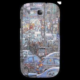 """Чехол для Samsung Galaxy S3 """"Охотный ряд"""" - арт, москва, город, пейзаж, живопись"""