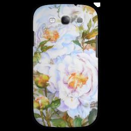 """Чехол для Samsung Galaxy S3 """"Белые пионы"""" - арт, пионы, букет, цветочная живопись, белые пионы"""
