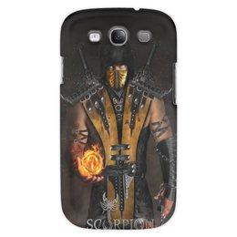 "Чехол для Samsung Galaxy S3 ""Mortal Kombat (Scorpion)"" - scorpion, mortal kombat, скорпион, боец, воин"