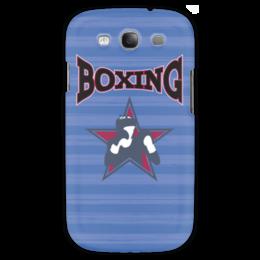 "Чехол для Samsung Galaxy S3 ""Боксер"" - звезда, надпись, полоска, бокс, боксер"