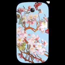 "Чехол для Samsung Galaxy S3 ""Бабочки на цветущей вишне 2."" - бабочки, цветы, весна, flowers, butterfly, spring, весеннее, цветочное"